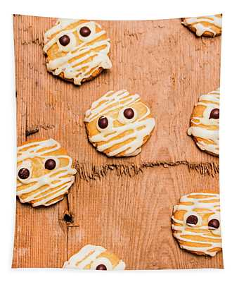 Biscuit Gathering Of Monster Mummies Tapestry