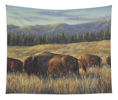 Bison Bliss Tapestry