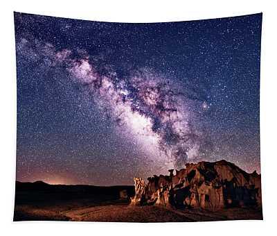 Bisti Badlands Night Sky Tapestry