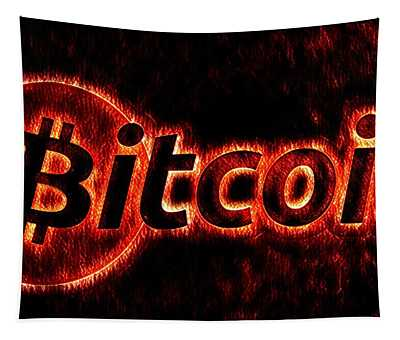 Bitcoin Red Hot Tapestry