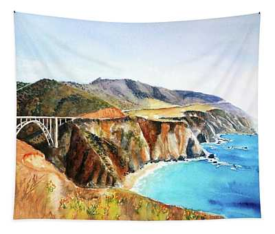 Bixby Bridge Big Sur Coast California Tapestry
