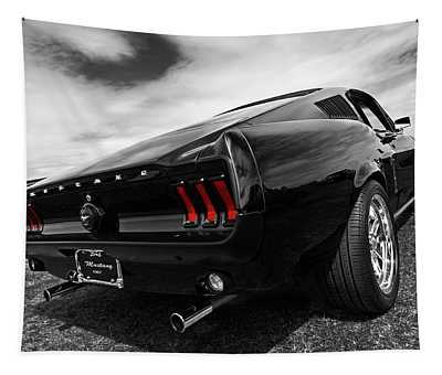 Black 1967 Mustang Tapestry