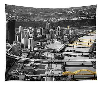 Black And Gold Pittsburgh  Tapestry