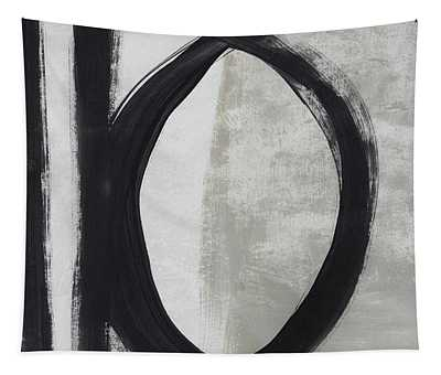Black And White Abstract 1- Art By Linda Woods Tapestry