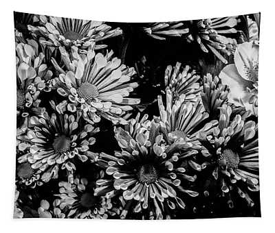 Black And White Bouquet Tapestry