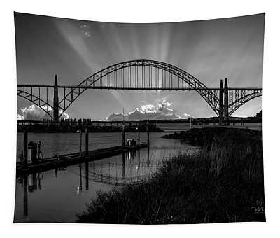 Black And White Bridge Tapestry