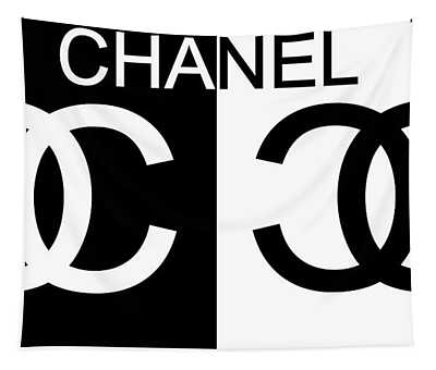 Black And White Chanel 2 Tapestry