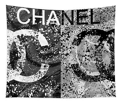 Black And White Chanel Art Tapestry