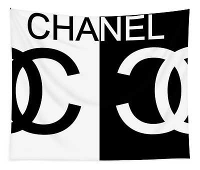 Black And White Chanel Tapestry