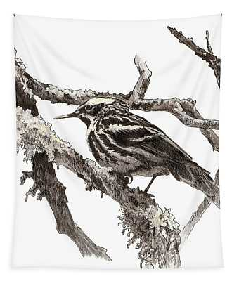 Black-and-white Warbler Tapestry