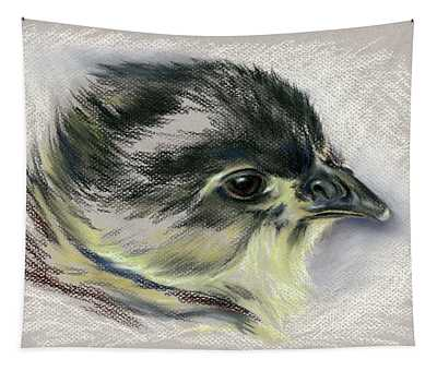 Black Australorp Chick Portrait Tapestry