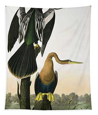 Black Billed Darter Tapestry