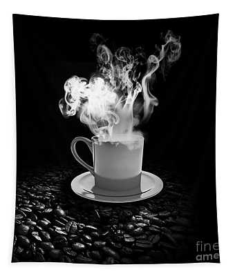 Black Coffee Tapestry