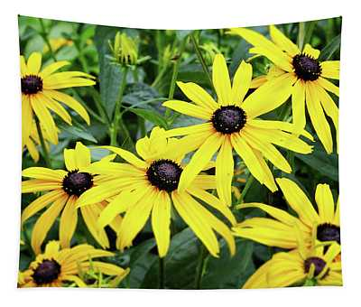 Black Eyed Susans- Fine Art Photograph By Linda Woods Tapestry