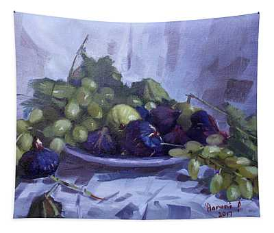 Black Figs And Grape Tapestry
