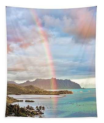 Black Friday Rainbow Tapestry