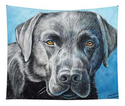 Black Lab Tapestry