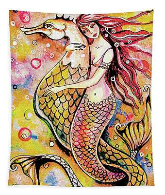 Black Sea Mermaid Tapestry