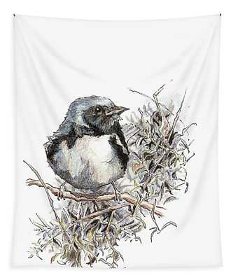 Black-throated Blue Warbler Tapestry