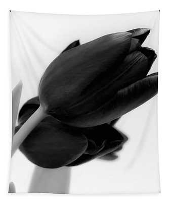Black Tulips Tapestry
