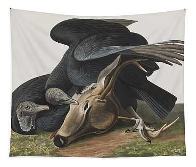 Black Vulture Or Carrion Crow Tapestry