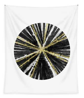 Black, White And Gold Ball- Art By Linda Woods Tapestry