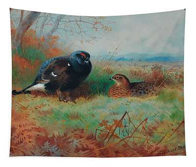 Blackcock And Hen Tapestry