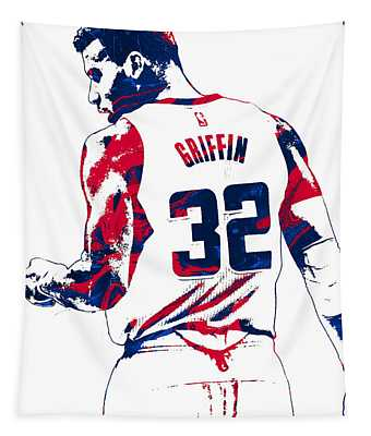 Blake Griffin Los Angeles Clippers Pixel Art 4 Tapestry