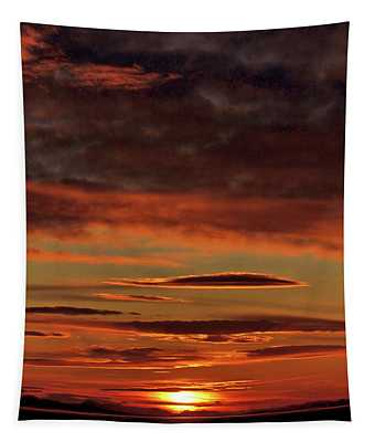 Blazing Sunset Tapestry