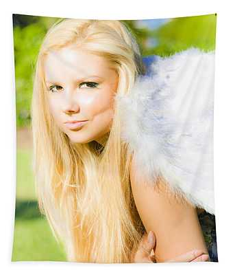 Blonde Angel Tapestry