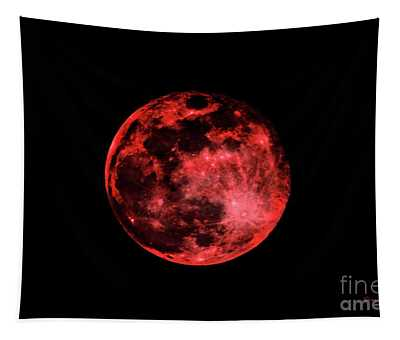 Blood Red Moonscape 3644b Tapestry