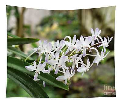 Blooming White Flower Spike Tapestry