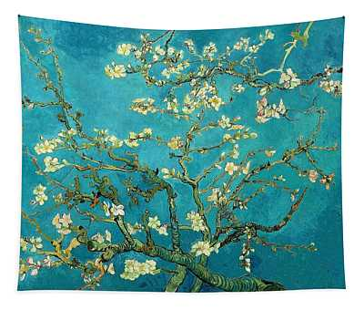 Tapestry featuring the painting Blossoming Almond Tree by Van Gogh