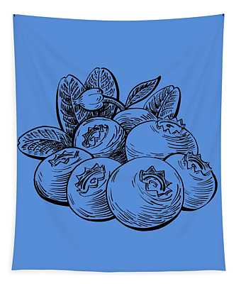 Blueberries Group Tapestry