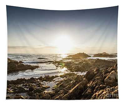 Blue Beach Beauty Tapestry