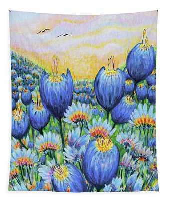 Blue Belles Tapestry