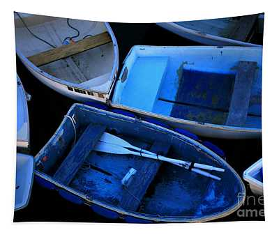 Blue Boats Tapestry