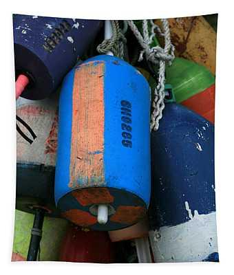 Blue Buoys Tapestry