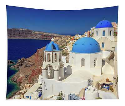 Blue Domed Churches Tapestry
