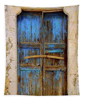 Blue Door 2 Tapestry