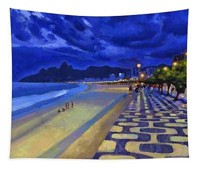 Blue Dusk Ipanema Tapestry