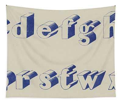 Blue Egyptian Font Tapestry