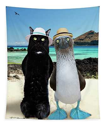 Blue Footed Booby Buddy Tapestry