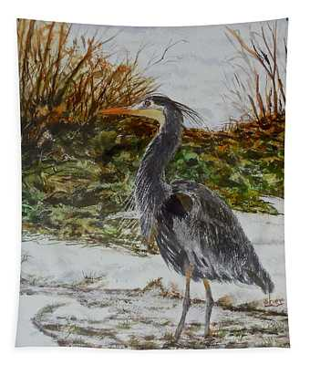 Blue Heron Tapestry