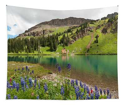 Blue Lakes Summer Splendor Tapestry