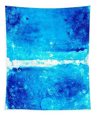 Blue Modern Art - Two Pools - Sharon Cummings Tapestry