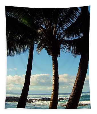 Blue Palms Tapestry