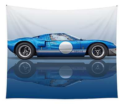 Blue Reflections - Ford Gt40 Tapestry