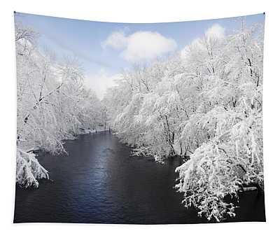 Blue Ribbon River Tapestry