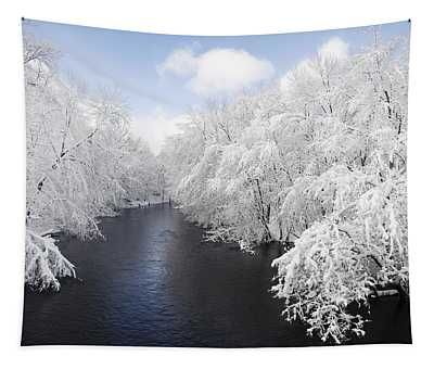 Blue Ribbon River Tapestry
